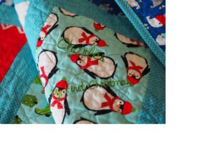 A custom baby quilt from The Half Pint Quilting Company